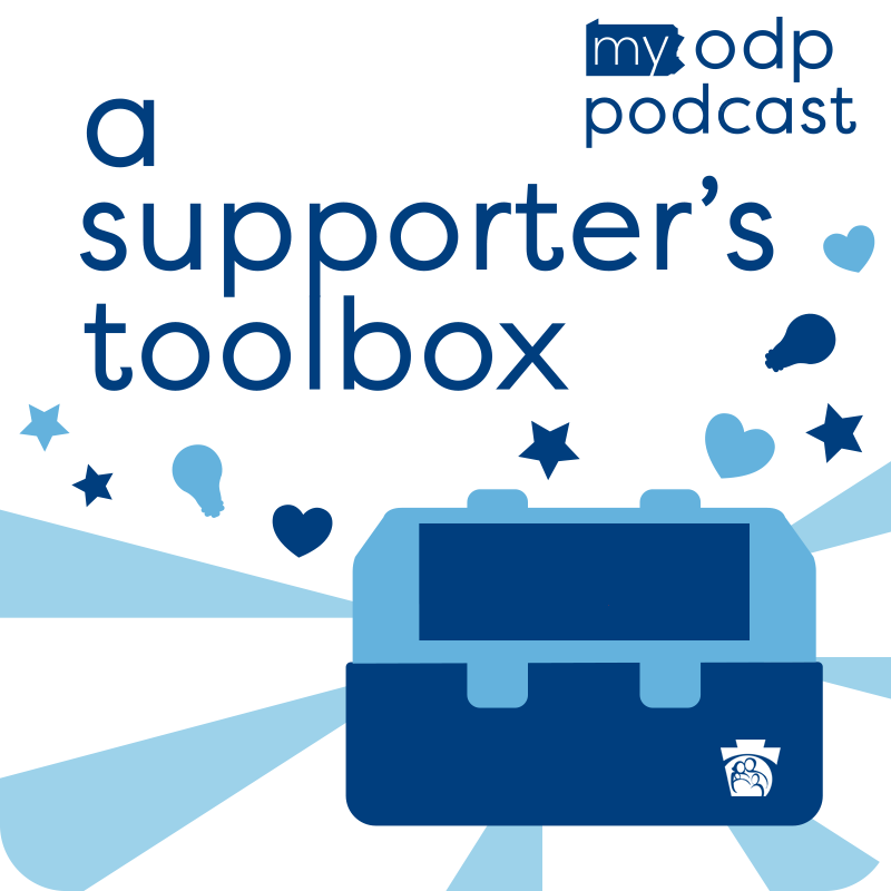 MyODP Supporter's Toolbox Podcast Logo