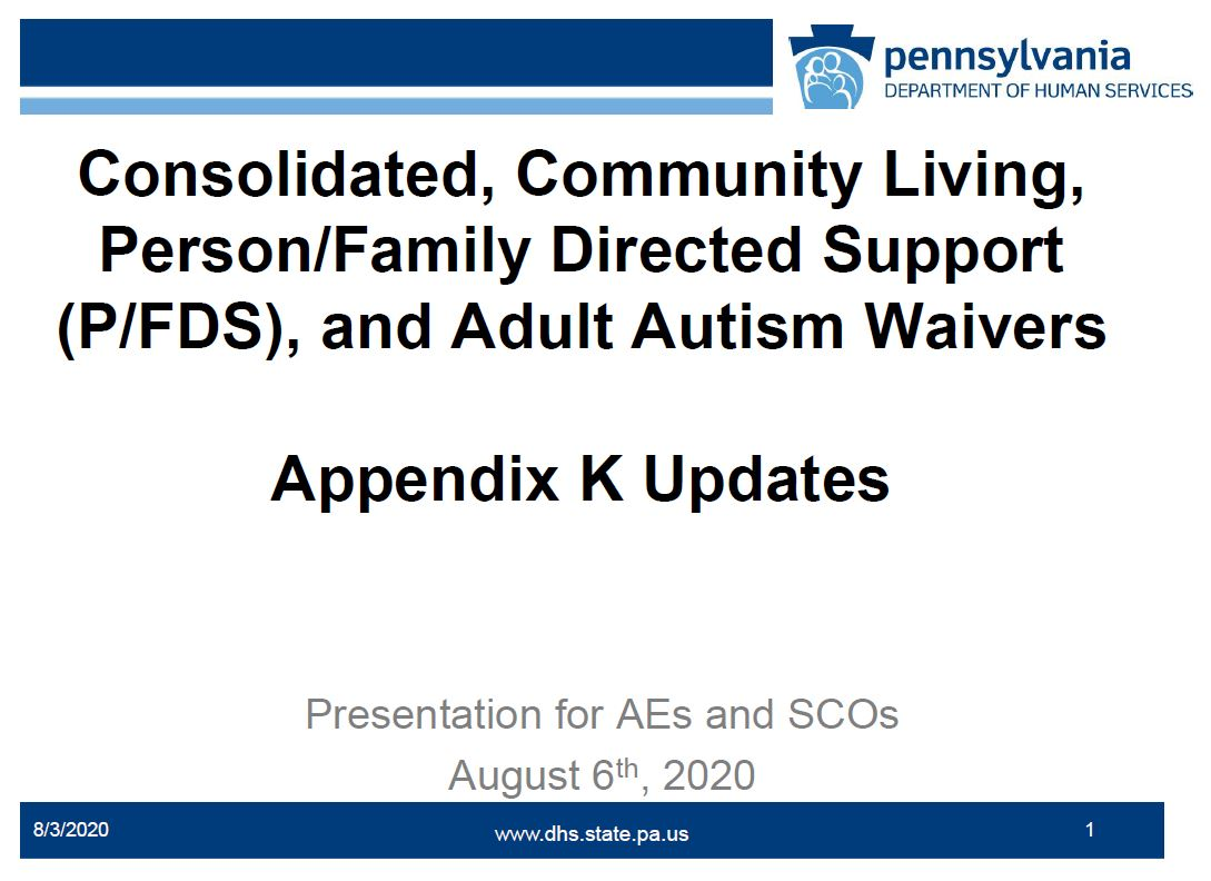 Click for COVID-19 ODP Operational Guidance to Appendix K for Supports Coordination Organizations recording