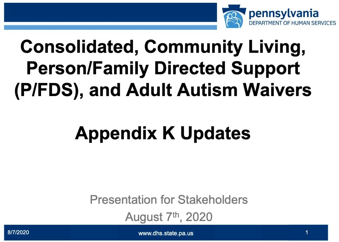 Click for Appendix K Update for General Audiences recording