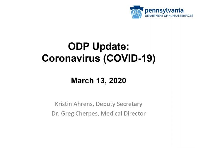 Click for Coronavirus (COVID-19) Update: March 13 Session recording