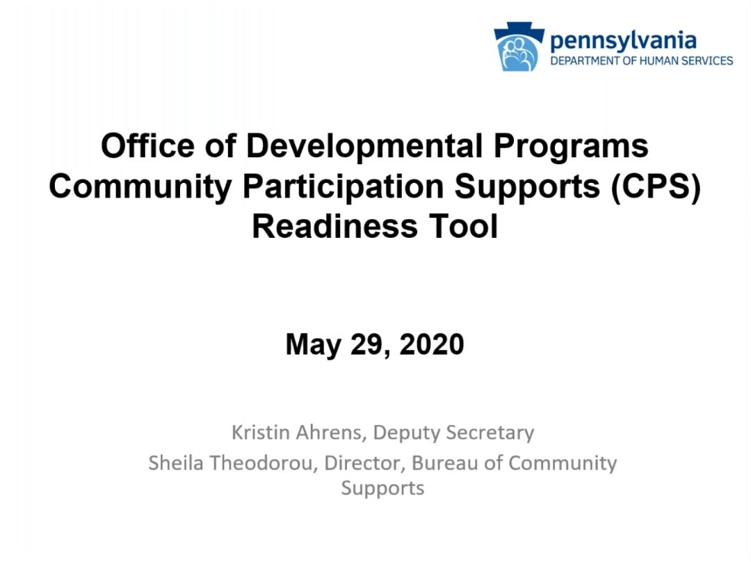 Click for CPS Readiness Tool for COVID-19 recording