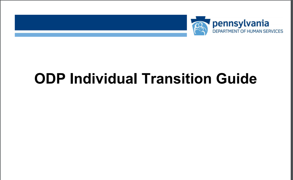 Click for ODP Individual Transition Guide for Stakeholders recording