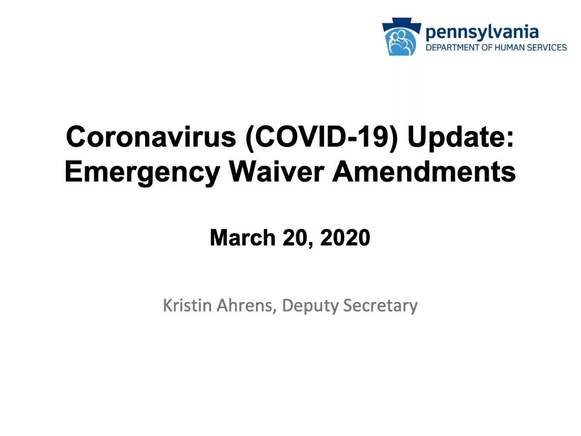 Click for Coronavirus (COVID-19) ODP Update: Overview of Emergency Amendments to ODP Waivers recording