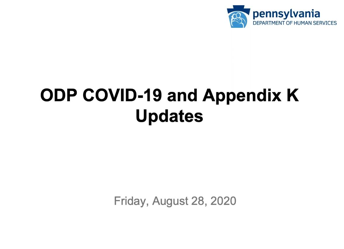 Click for ODP COVID-19 and Appendix K Updates recording