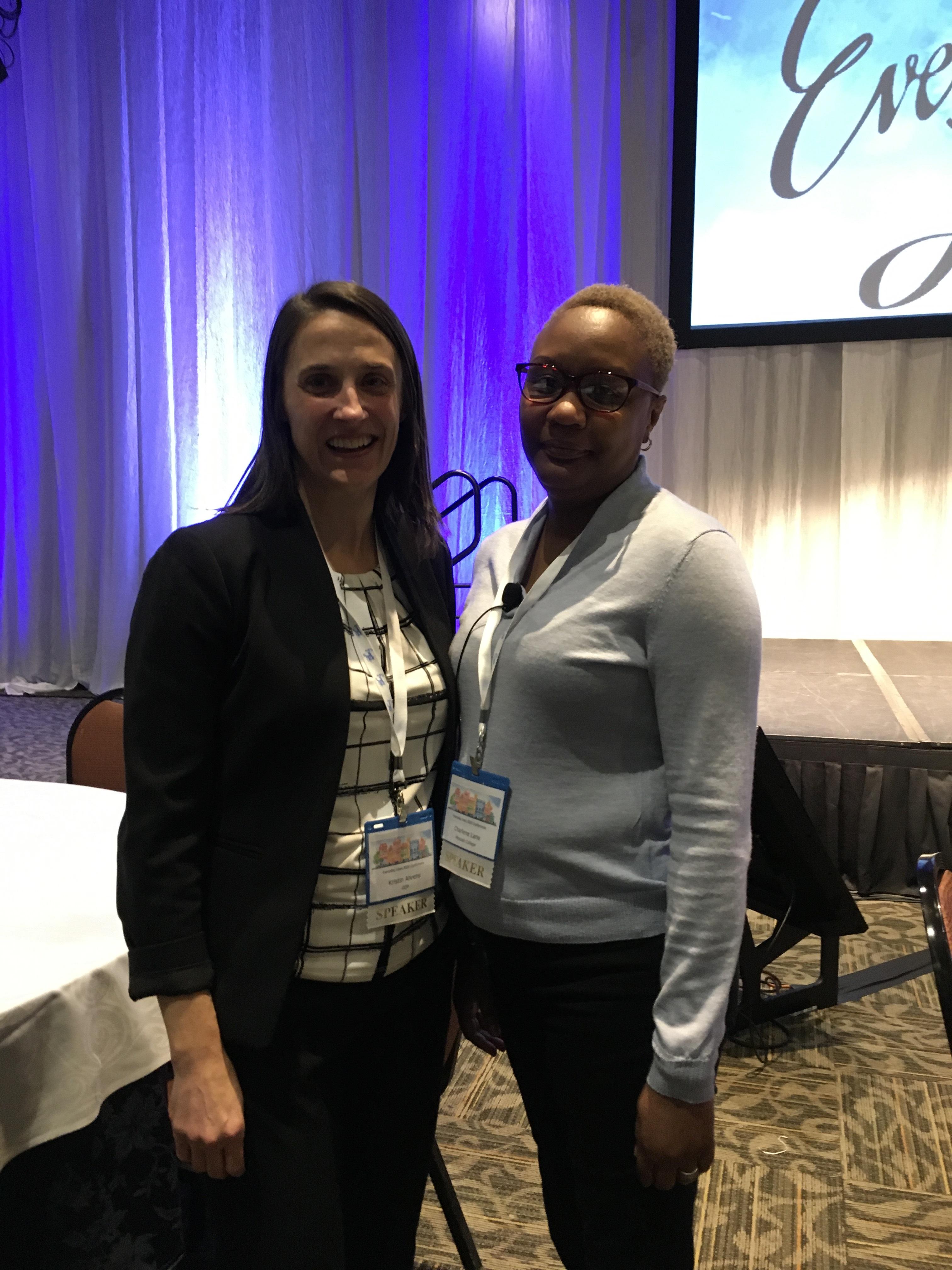 ODP Deputy Secretary Kristin Ahrens and Dr. Charlene Lane